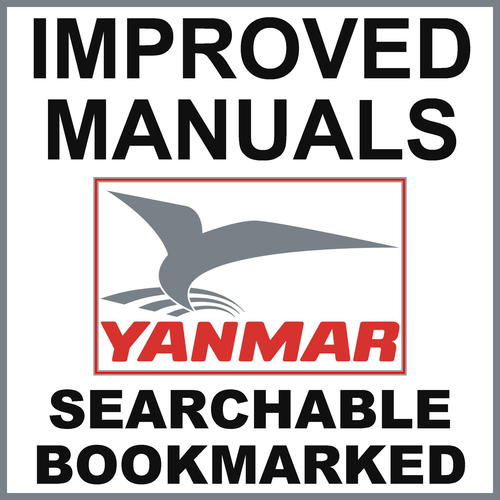 Product picture Collection of 2 files: Yanmar 6CXM-GTE 6CXM-GTE2 Engine Service Repair Manual & Operator Instruction Manual - IMPROVED - DOWNLOAD